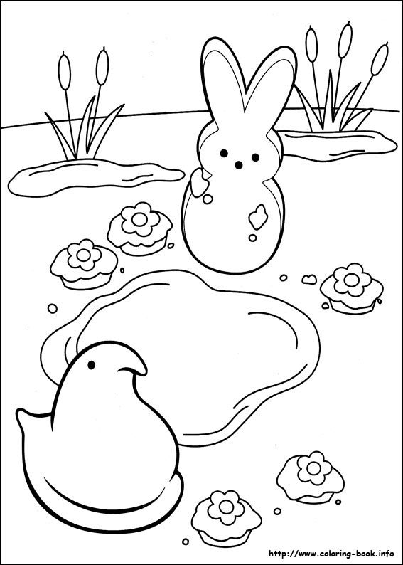 567x794 Marshmallow Peeps Coloring Picture Coloring Pages