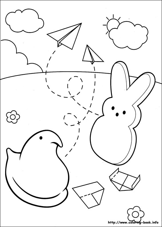567x794 Peeps Chick Coloring Page