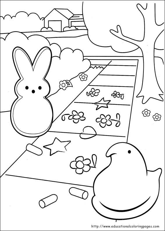 567x794 Peeps Coloring Pages