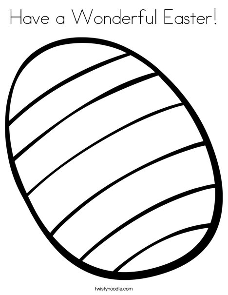 468x605 Have A Wonderful Easter Coloring Page