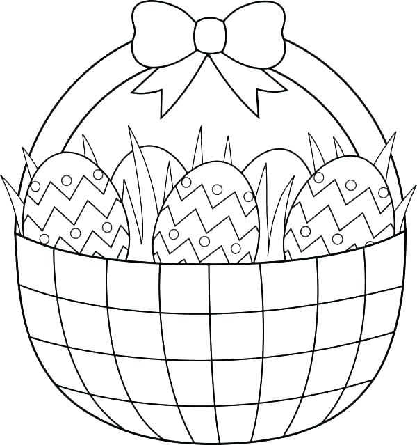 600x639 Coloring Pages For Easter Eggs Printable