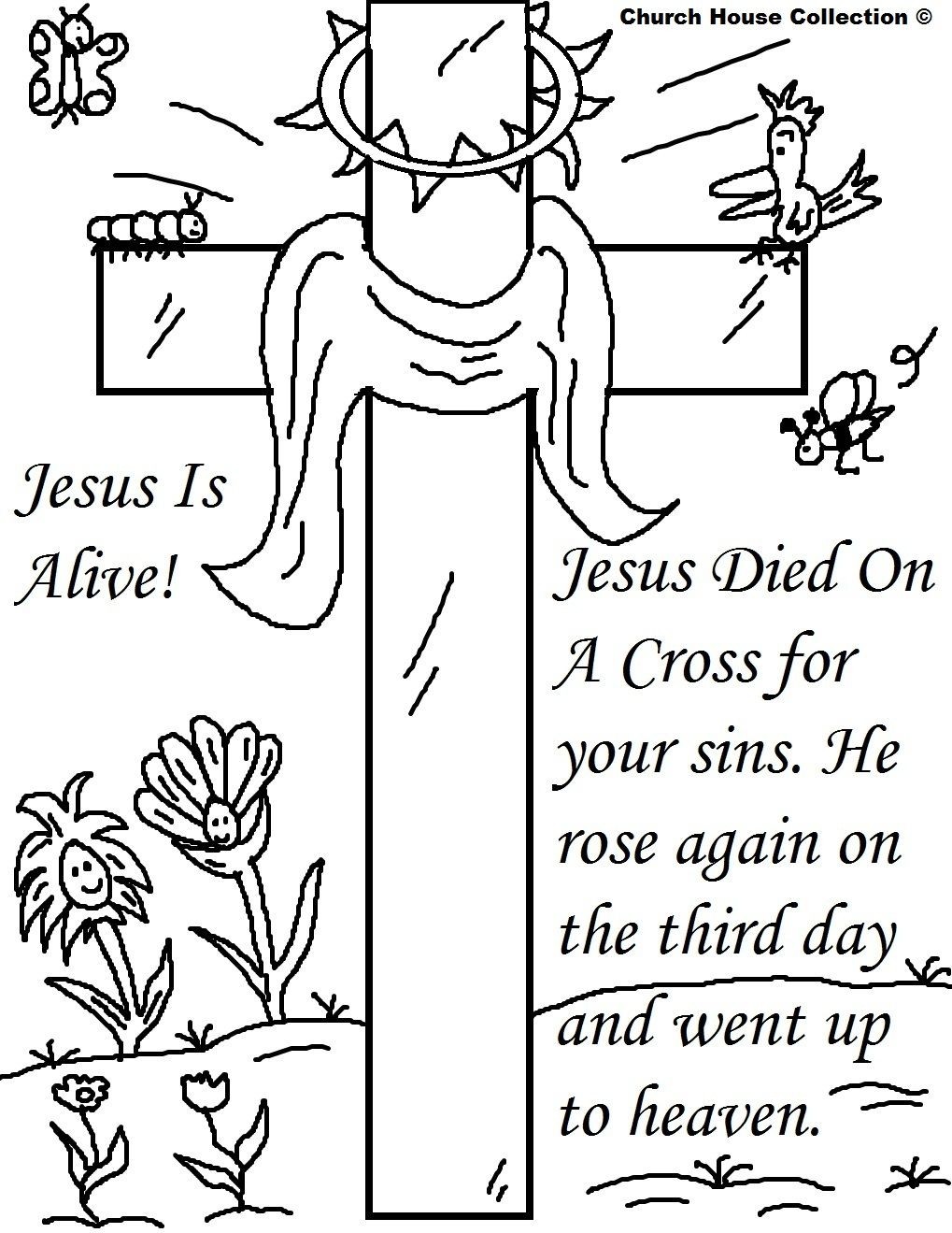 Easter Printable Coloring Pages Religious
