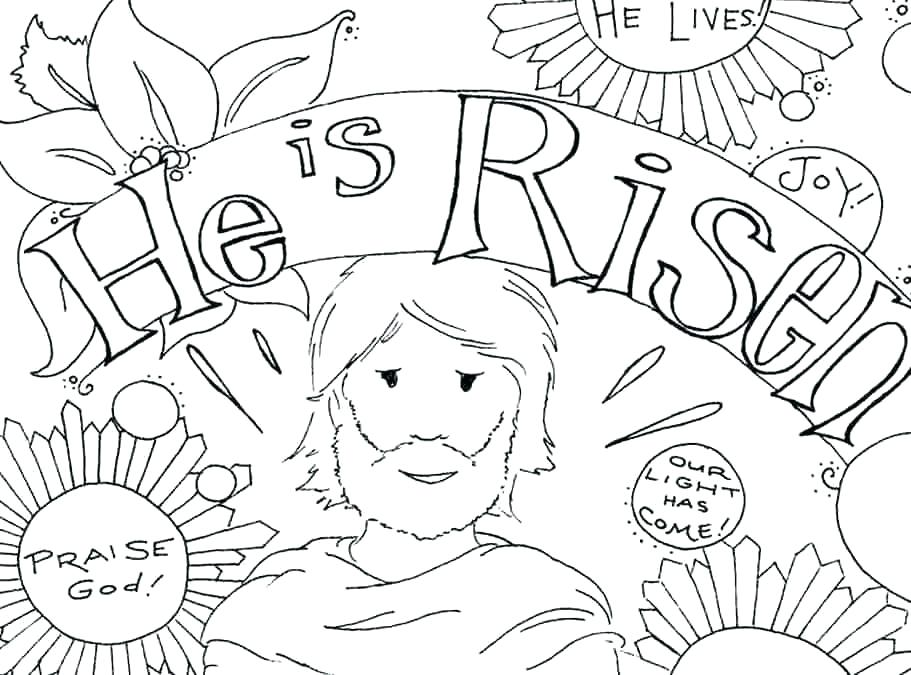 911x675 Easter Coloring Pages Religious Coloring Pages Printable Free