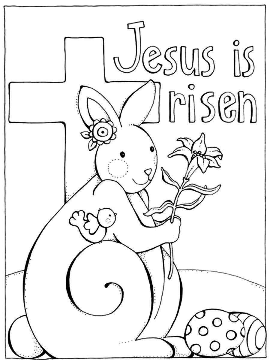 900x1206 Marvelous Easter Coloring Pages Religious Printable Image