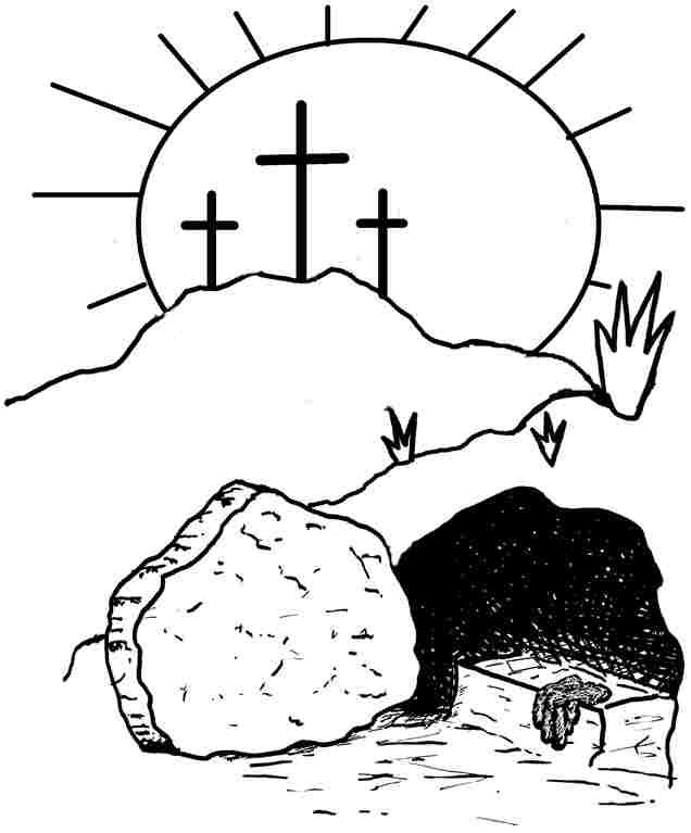 636x767 Printable Religious Easter Coloring Pages Religious Easter