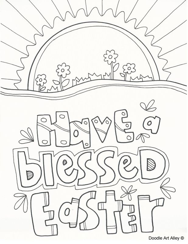 618x800 Religious Easter Coloring Page Religious Doodles