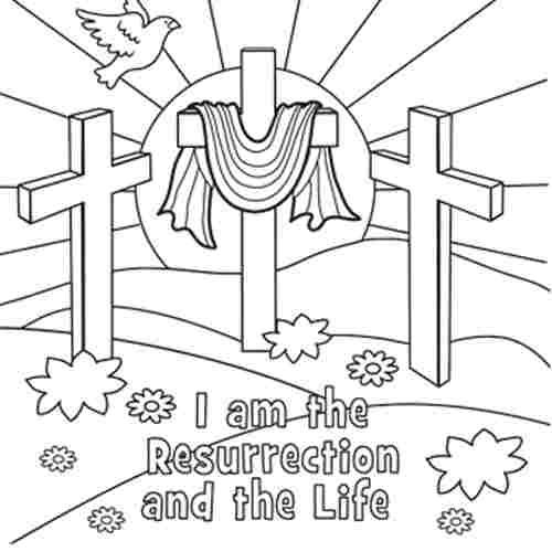 500x500 Easter Religious Coloring Page Free Printable Christian Easter