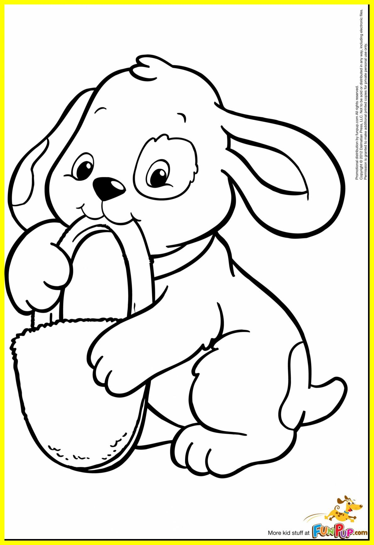 Easter Puppy Coloring Pages at GetDrawings | Free download