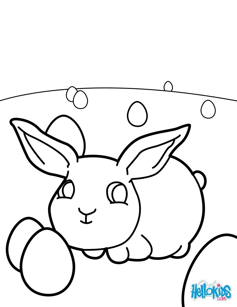 820x1060 Baby Easter Bunny Coloring Pages