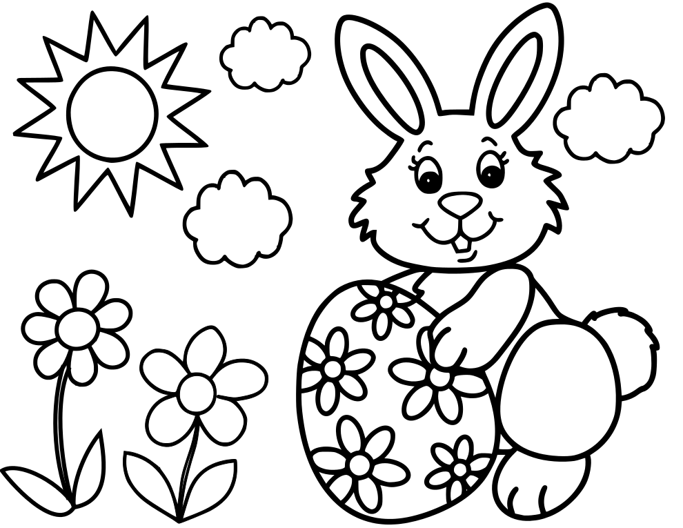 Easter Rabbit Coloring Pages at GetDrawings.com | Free for ...