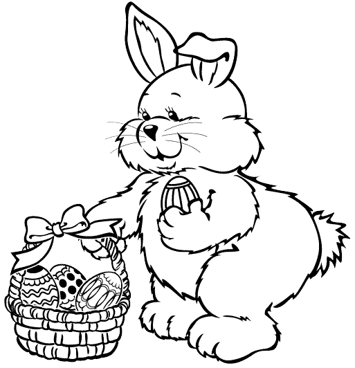 513x532 Easter Bunny Coloring Page Coloring Book