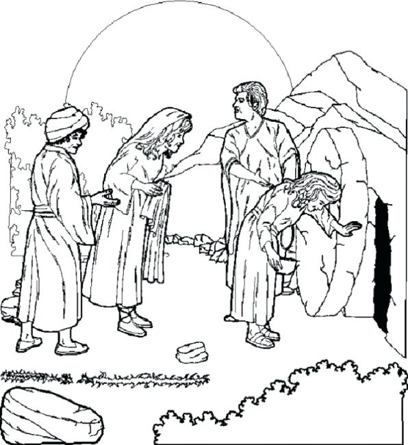 596x650 Easter Story Colouring Sheets Printable Coloring Pages Religious