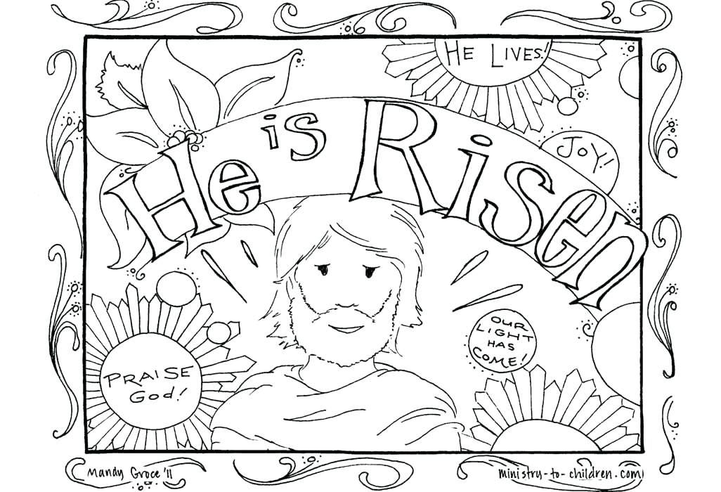 1026x700 Religious Easter Coloring Pages Christian Coloring Pages Packed
