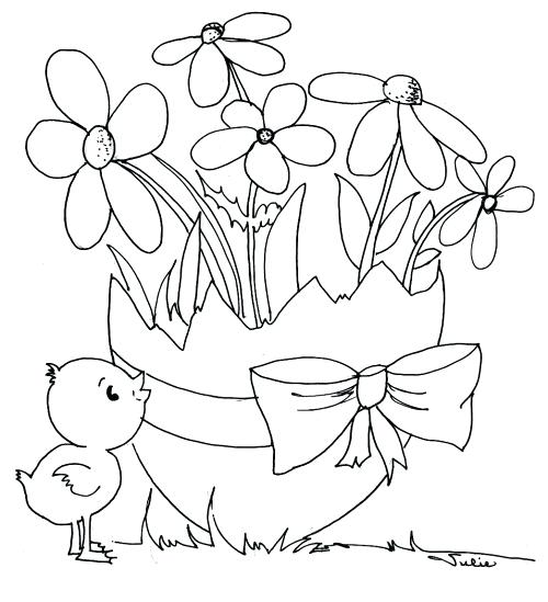 500x549 Coloring Pages For Easter Icontent