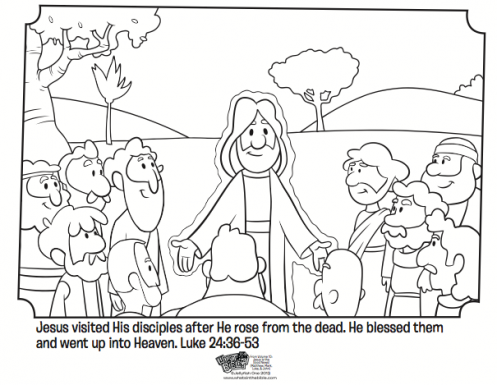 497x385 Easter Story Coloring Pages For Preschoolers Jesus And His