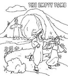 236x263 Easter Coloring Page For Children Picture The Empty Tomb