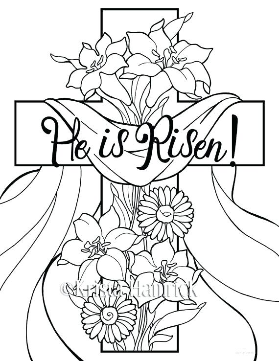 570x738 Easter Sunday Coloring Pages He Is Risen Coloring Pages