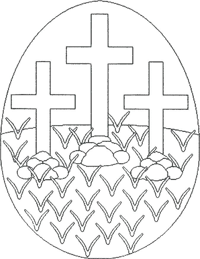 675x873 Elegant Christian Easter Coloring Pages For Free Printable