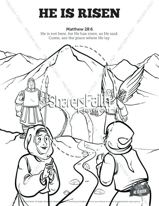 520x673 Sunday School Coloring Pictures He Is Risen School Coloring Pages