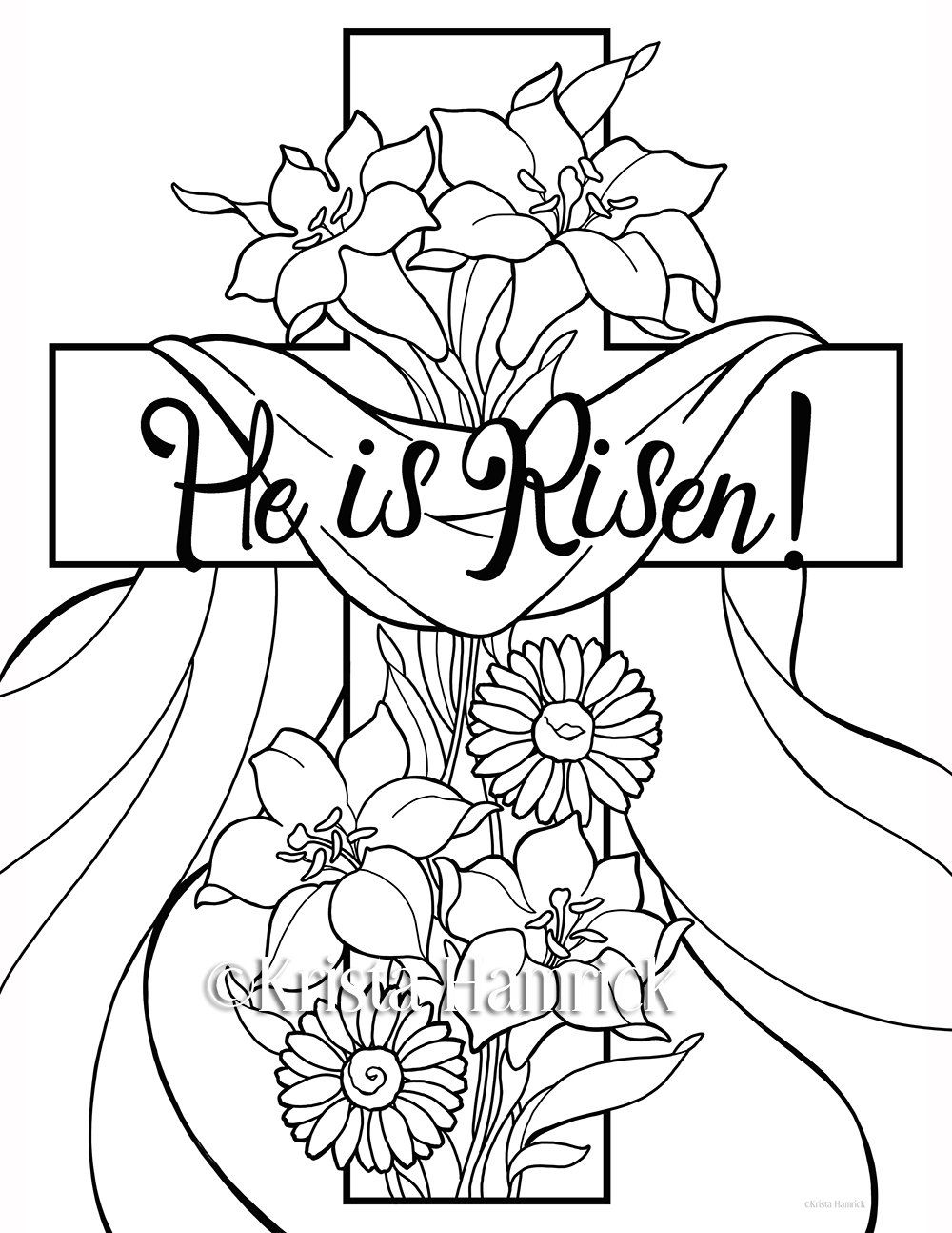 1000x1294 He Is Risen! Easter Coloring Pages For Children Easter