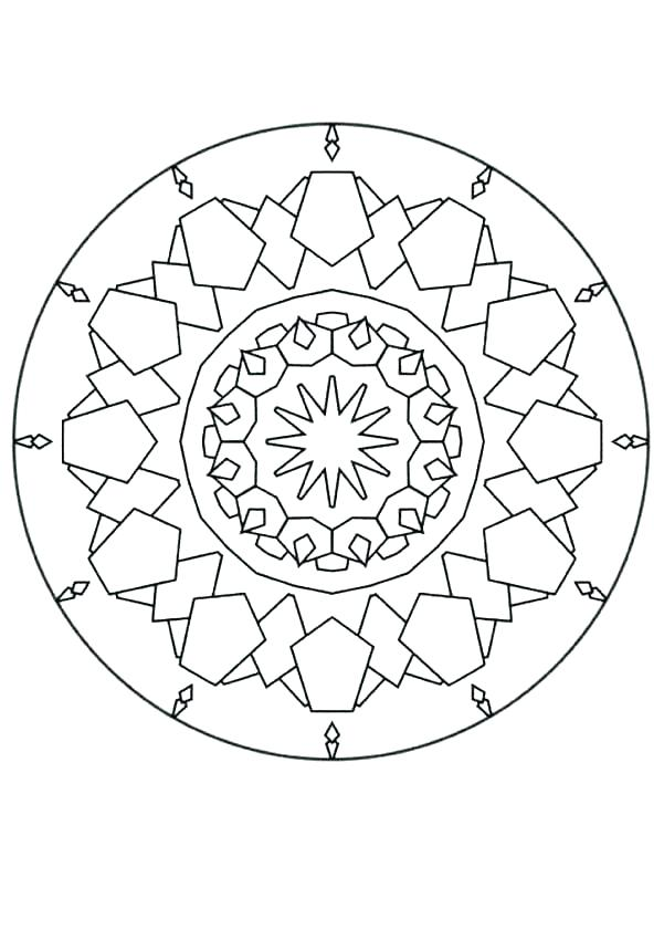 601x850 Mandala Printable Coloring Pages Abstract Printable Coloring Pages