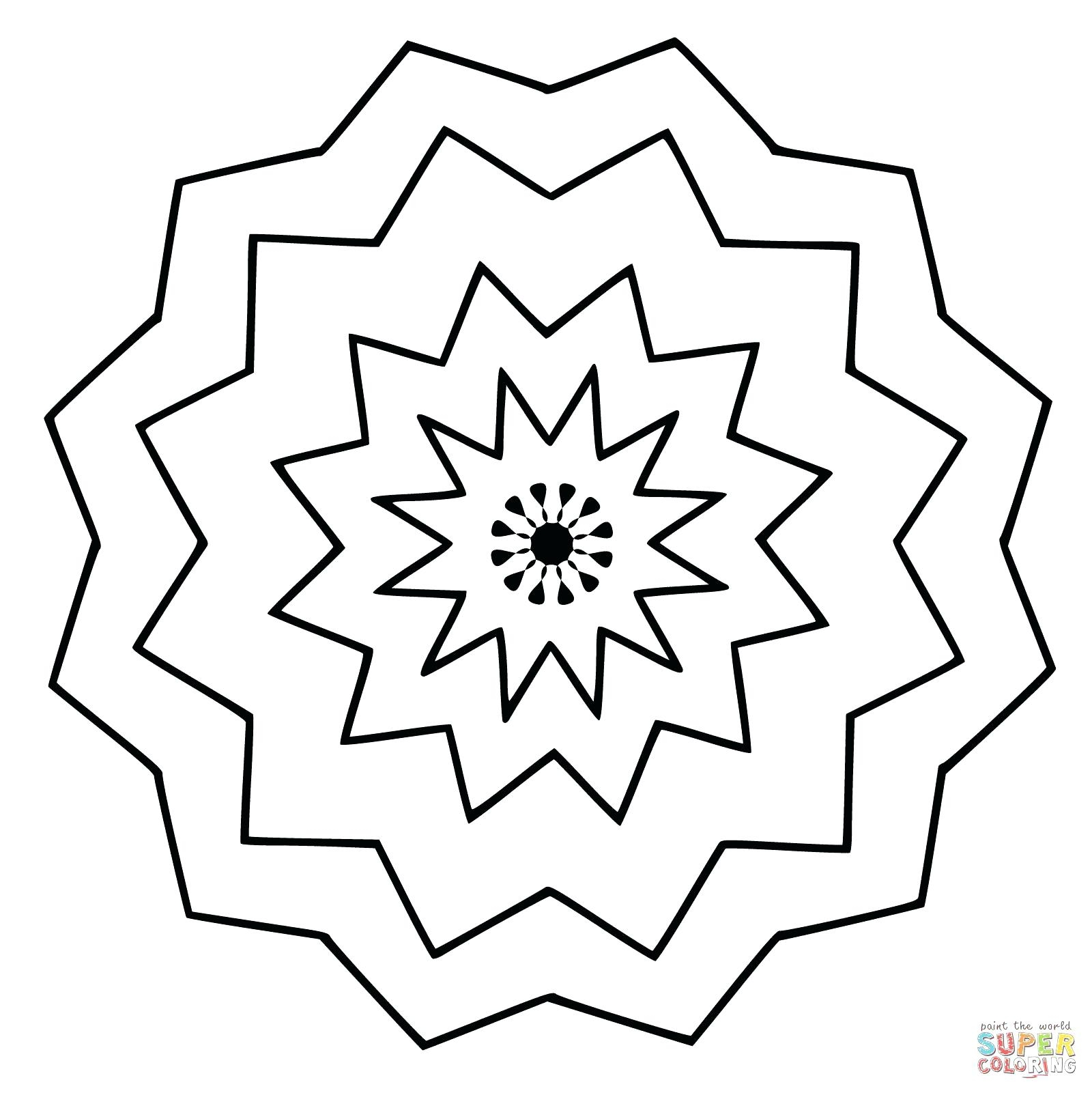 1600x1601 Printable Arts Culture Easy Mandala With Stars Simple Mandalas