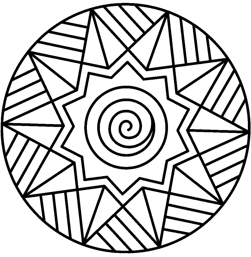 1043x1067 Abstract Coloring Pages