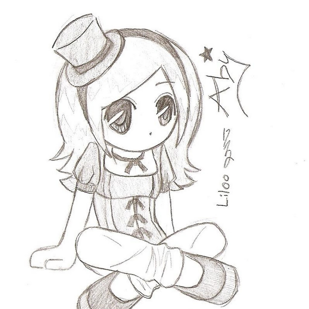 1024x1024 Easy Anime Drawings In Pencil Chibi Coloring Pages Easy Anime