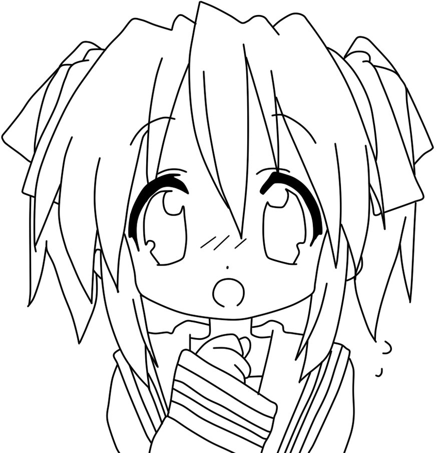 881x906 Anime Coloring Page