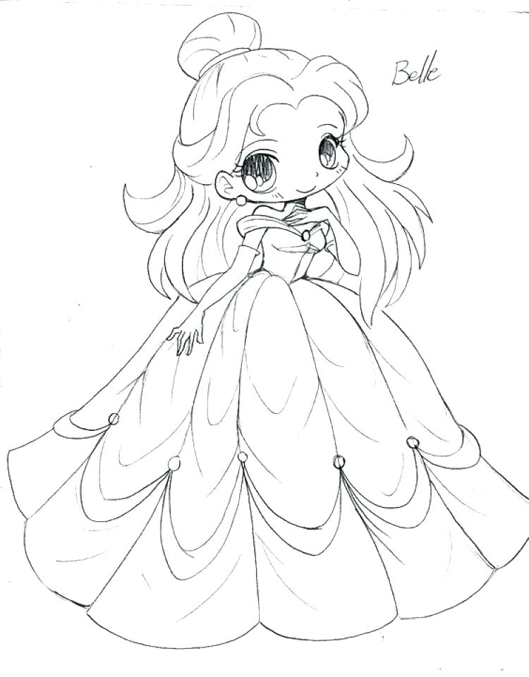 750x960 Anime Coloring Pages Cute Anime Girl Coloring Pages Page Print