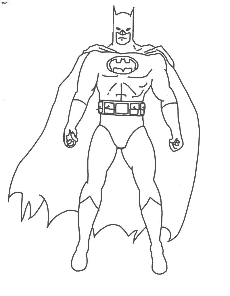 800x1031 Simple Batman Coloring Pages Simple Colorings
