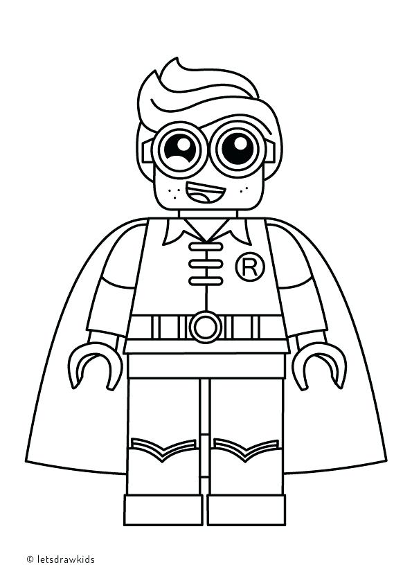 595x842 Simple Lego Batman Coloring Book
