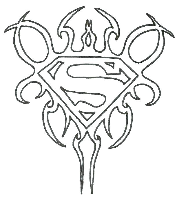 618x699 Superman Symbol Coloring Pages Superman Logo Coloring Pages