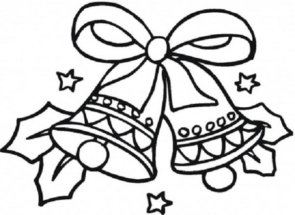 602x439 Easy Christmas Coloring Pages Full Desktop Backgrounds