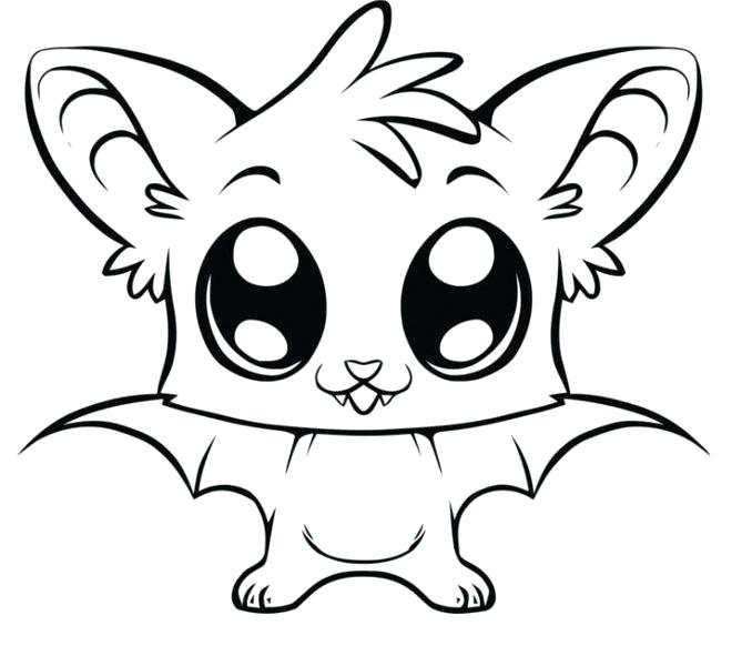 678x600 Easy Coloring Pages Cute Easy Coloring Pages Big Eye Bat Free Page
