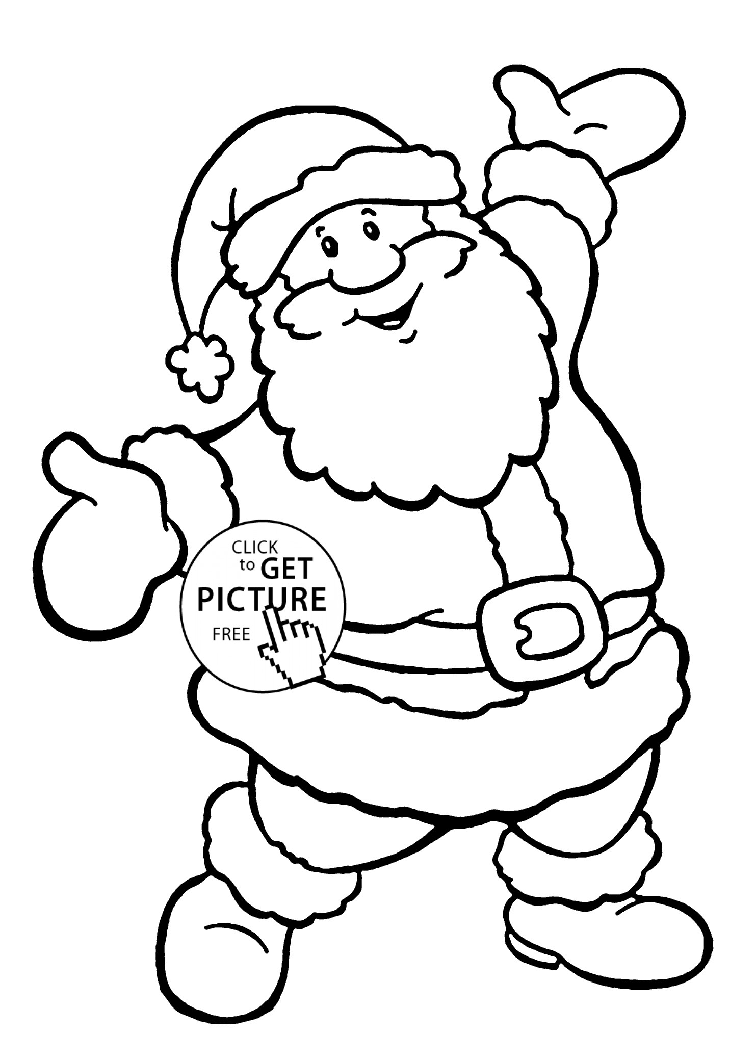 1483x2079 Fresh Easy Coloring Pages For Christmas Best Of Happy Santa