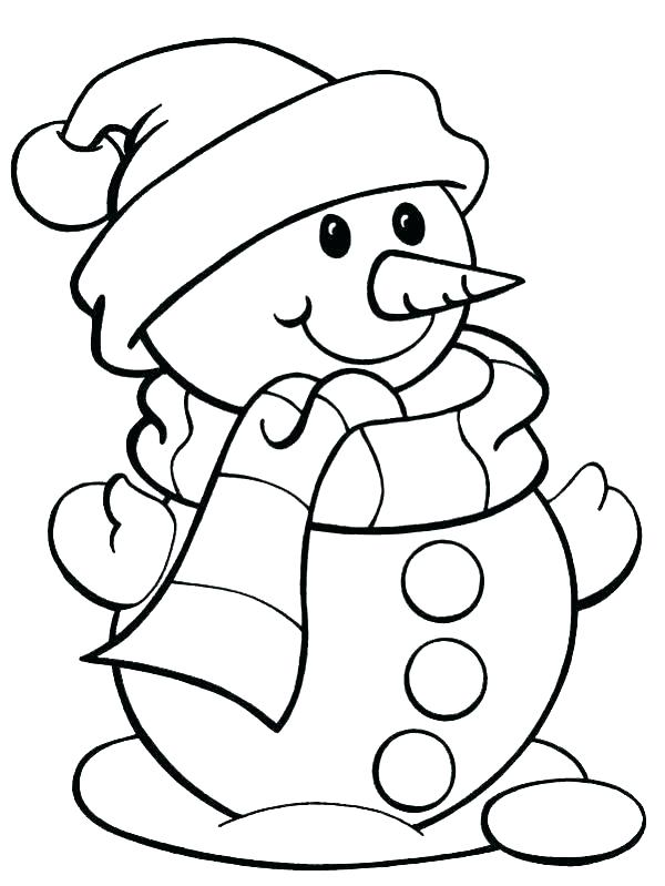 Easy Coloring Pages Christmas at GetDrawings | Free download