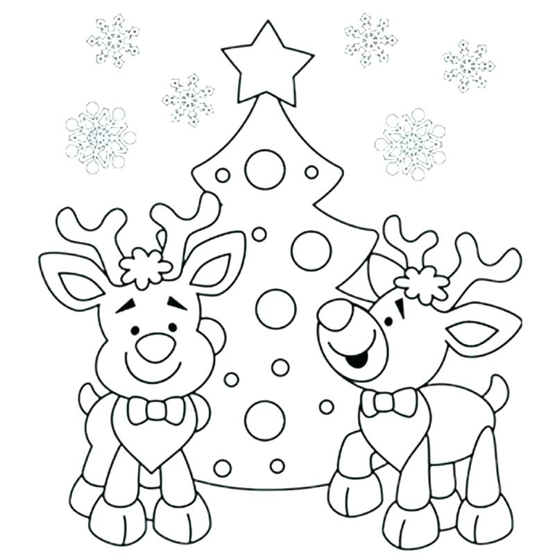 800x800 Easy Christmas Coloring Pages