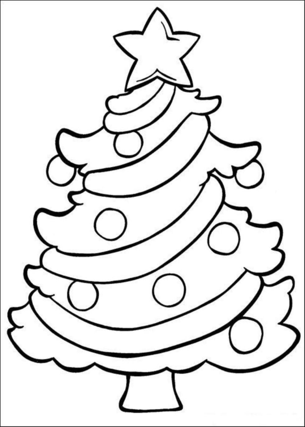 980x1372 Coloring Pages Christmas Easy Simple Colorings