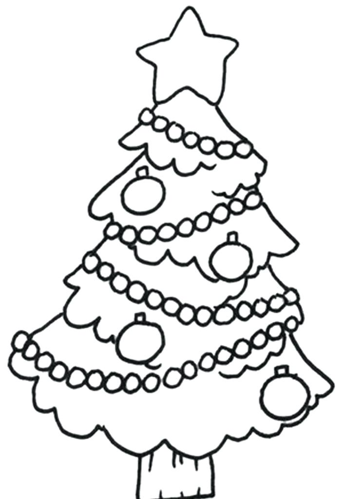 700x1024 Coloring Pages Of A Christmas Tree Drawings Easy Tree Coloring