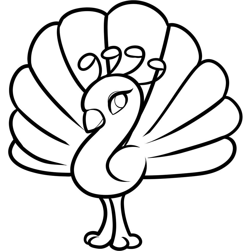 991x991 Easy Coloring Pages