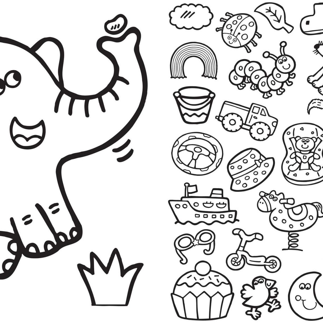 1224x1224 Printable Simple Coloring Pages For Kids Year Old Free Birthday