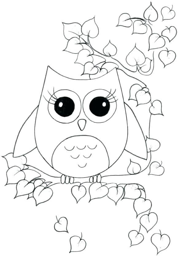 580x832 Easy Coloring Pages For Girls Cute Owl Skeleton Home Improvement