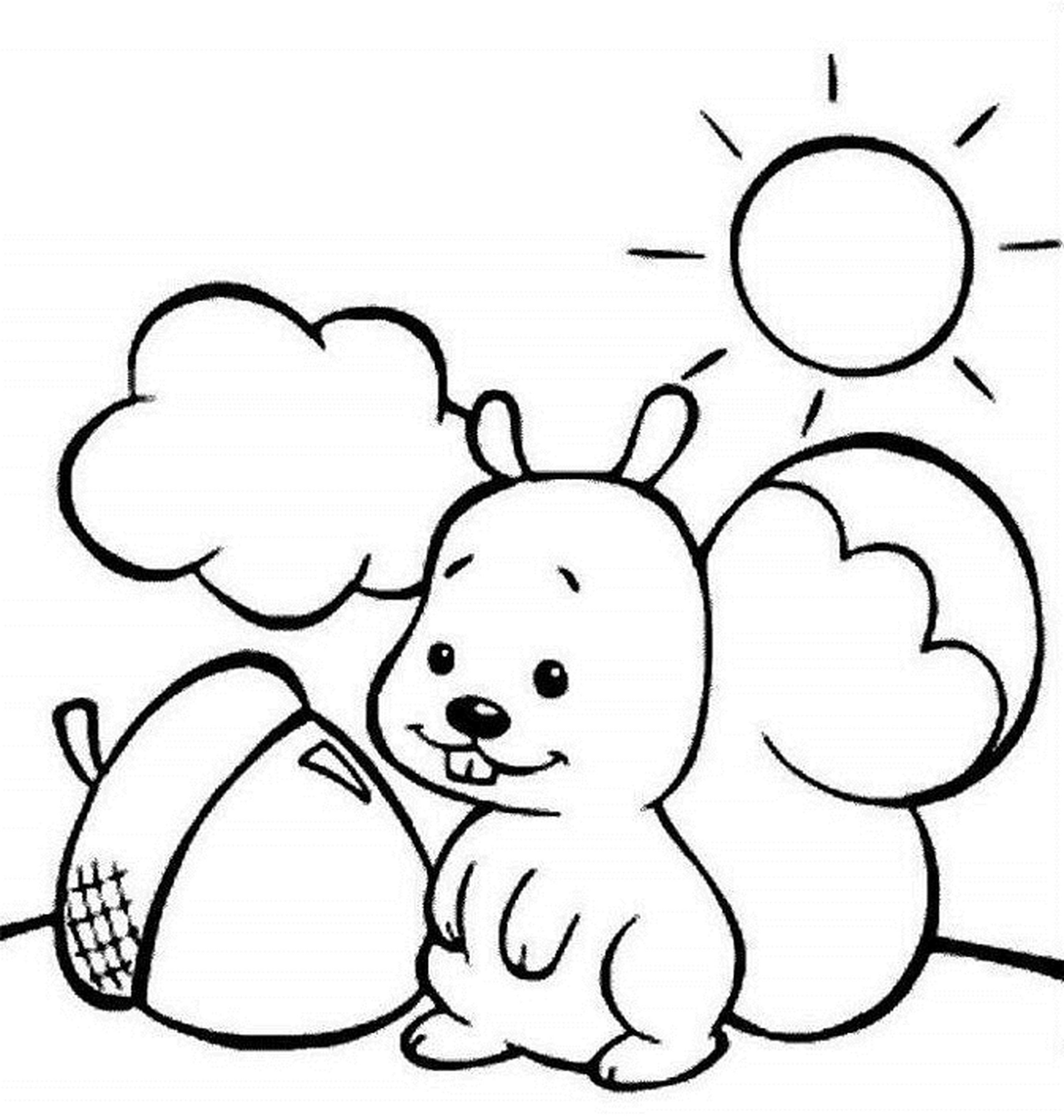 2550x2683 Coloring Book Pages Resume Format Download Pdf Squirrel