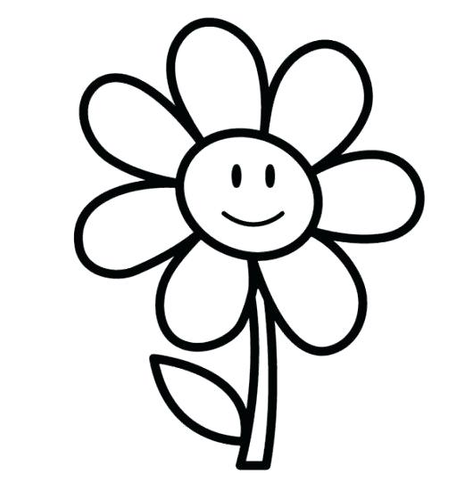 Easy Coloring Pages Of Flowers