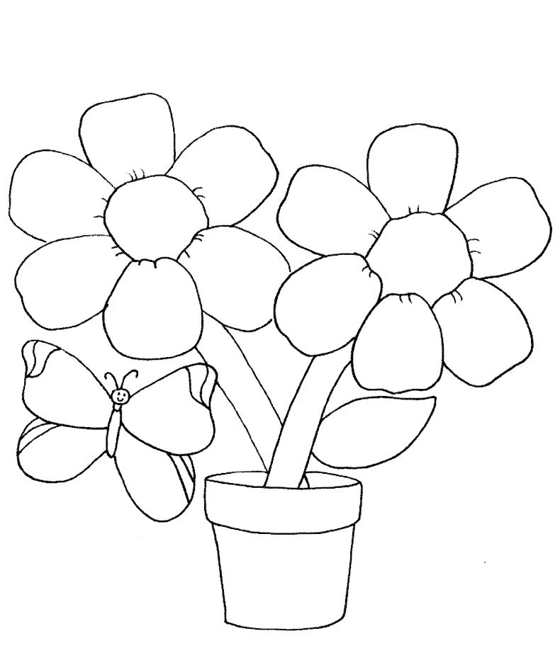 790x922 Coloring Pages Of Flowers Easy Flower Coloring Pages Flower