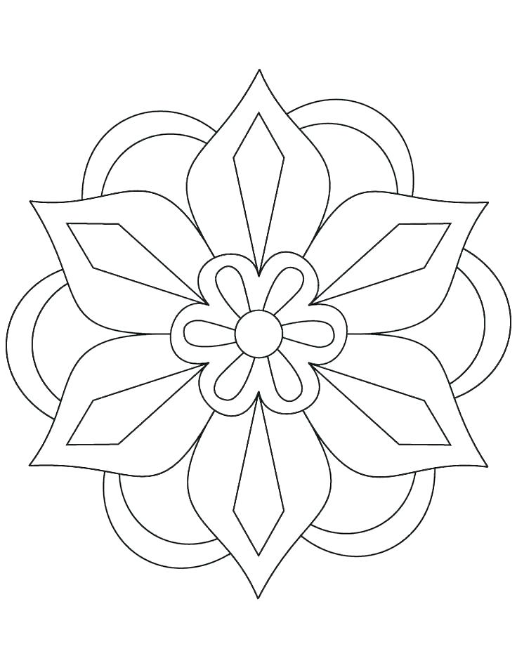 736x951 Easy Flower Coloring Pages Cute Flower Coloring Pages Sheets