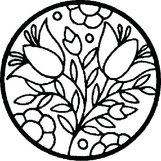 550x551 Easy Flower Coloring Pages Download Flowers Free Catgames Co