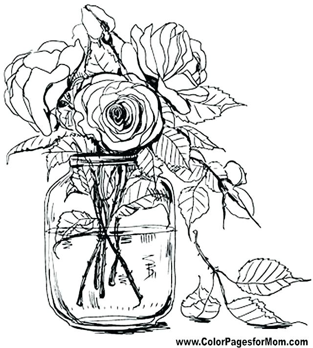 640x712 Easy Flower Coloring Pages Easy Flower Coloring Pages For Kids