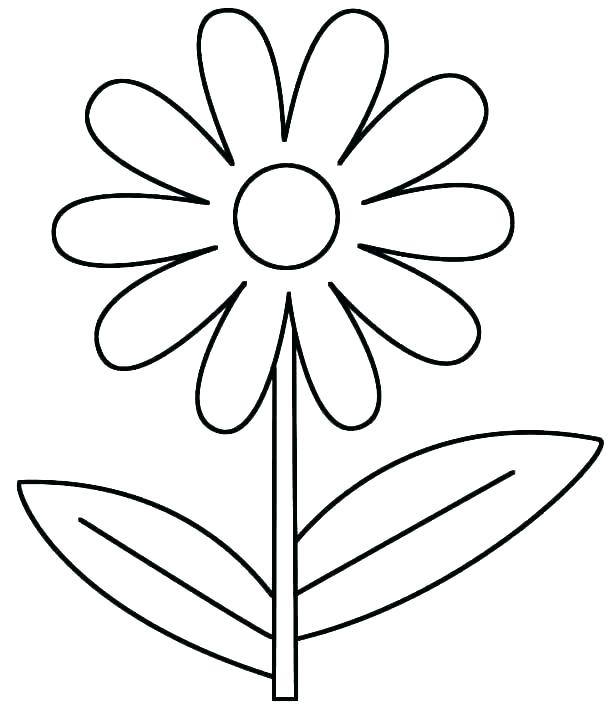 615x718 Easy Flower Coloring Pages Flower Coloring Sheets Easy Flower